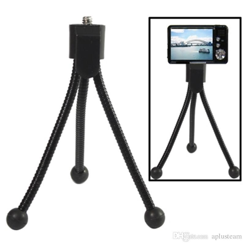 Evrensel Esnek Tripod Telefon Tutucu Braketi Projektör Mini Standı Monopod Akıllı telefon Için Ayarlanabilir Kamera Aksesuarları Adaptörü Braketi
