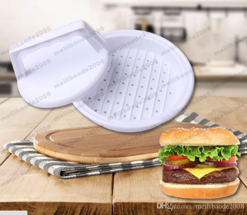 2017 Plastic Burger Press Hamburger Meat Beef Grill Cooking Maker Kitchen Mold free shipping MYY