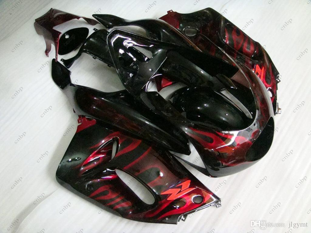Fairing Kits RGV250 1995 Full Body Kits for Suzuki RGV250 1996 Black Red Flame ABS Fairing RGV 250 96 1995 - 1996 NC23