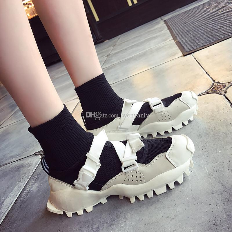 the best attitude 6d724 34137 2019 2017 Women Hyke X Originals Seeulater Casual Sneakers Mens Running  Shoes High Top Sock Dart Sneakers Black White Womens Shoe Size 36 45 From  ...