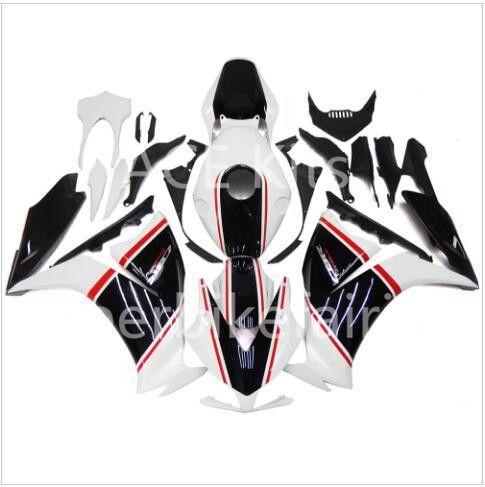 3 regali gratuiti Per Honda CBR1000 CBR1000RR 12 13 14 2012 2013 2014 ABS Iniezione Moto Kit carena completa Nero Bianco A18S