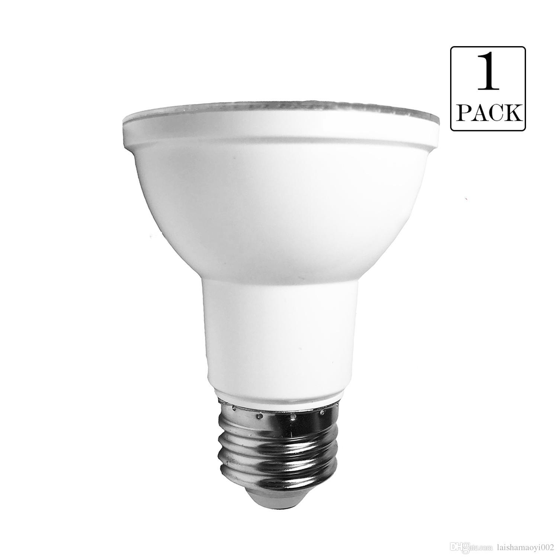 Satın Al 1 Pack Kısılabilir PAR20 Spot Lamba 7W AC120V 2700K 3000K 5000K  Yumuşak / Sıcak / Doğal Beyaz E26 550lumens Spot 50w Eşdeğer, TL61.82