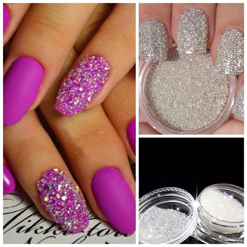Nail Art Decoração Glitter vidro cristal Caviar Beads Minúsculas decoração de unhas 3D Micro Pixie Mermaid Nails Art Hot