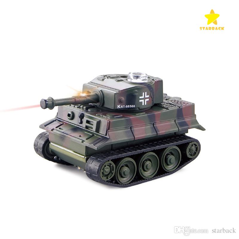 Mini Remote Control Tank Remote Control Toy Electric Lighting Wireless Remote Tank Electric Model with Package