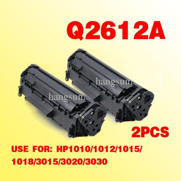 2x voor HP2612A Q2612A 12A tonercartridge-compatibel voor LaserJet 1010/1012/1015/1012/3015/3020/3030