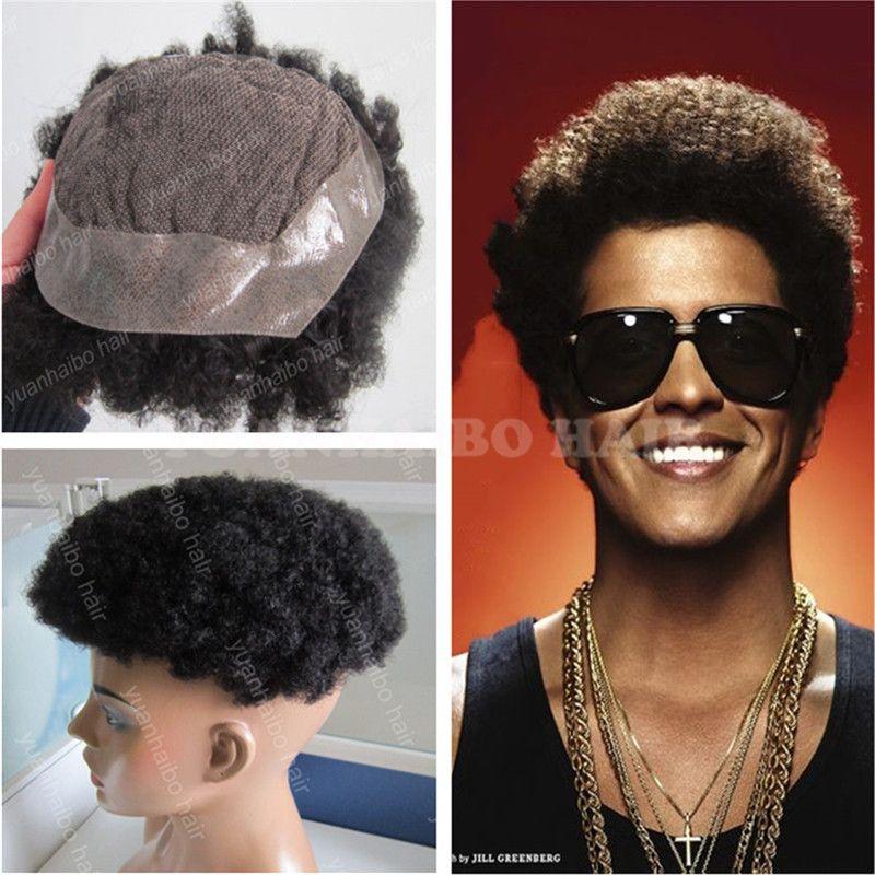 Лучшие продажи 6 дюймов натуральный черный афро локон индийские волосы парик кружева с PU парик для черный Бесплатная доставка