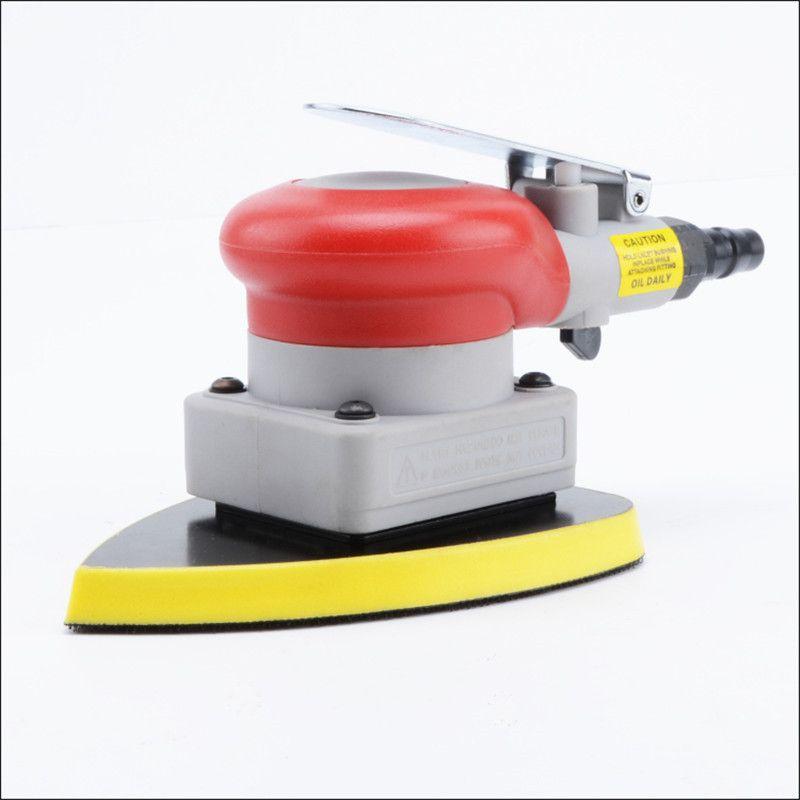 Envío gratis 20331 tipo de vibración neumática máquina de lijado molinillo trangle aire arena vibración herramienta de pulido óxido eliminar cera 90X135mm