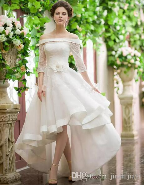Discount Cheap Vintage Style High Low 2016 Boho Wedding Dresses Off ...