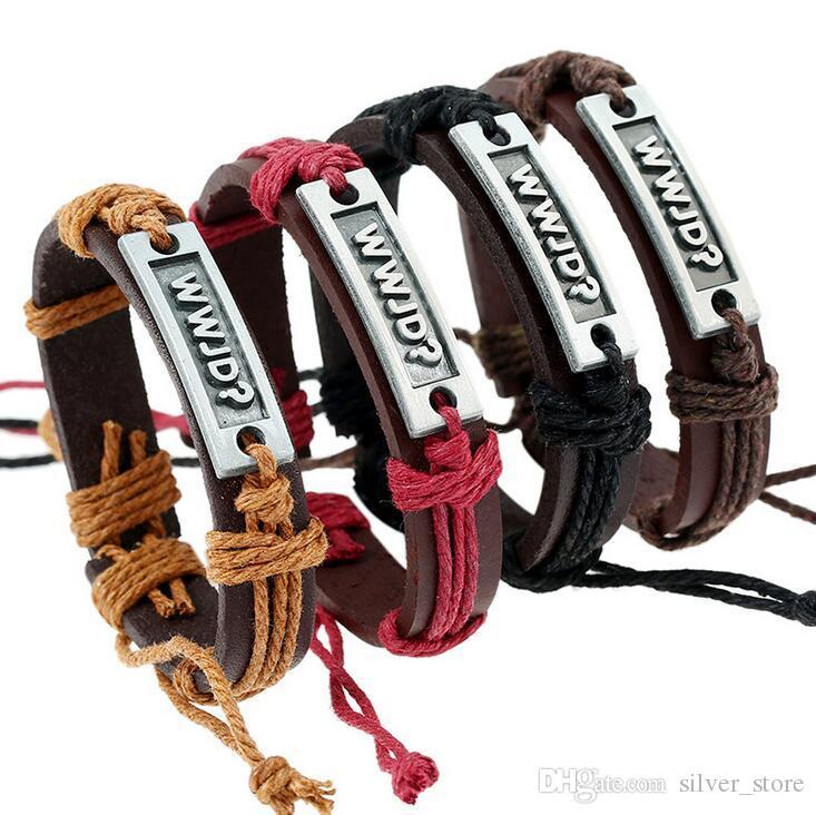 Good A++ Bursts of retro weaving alloy letters cowhide bracelet FB467 mix order 20 pieces a lot Slap & Snap Bracelets