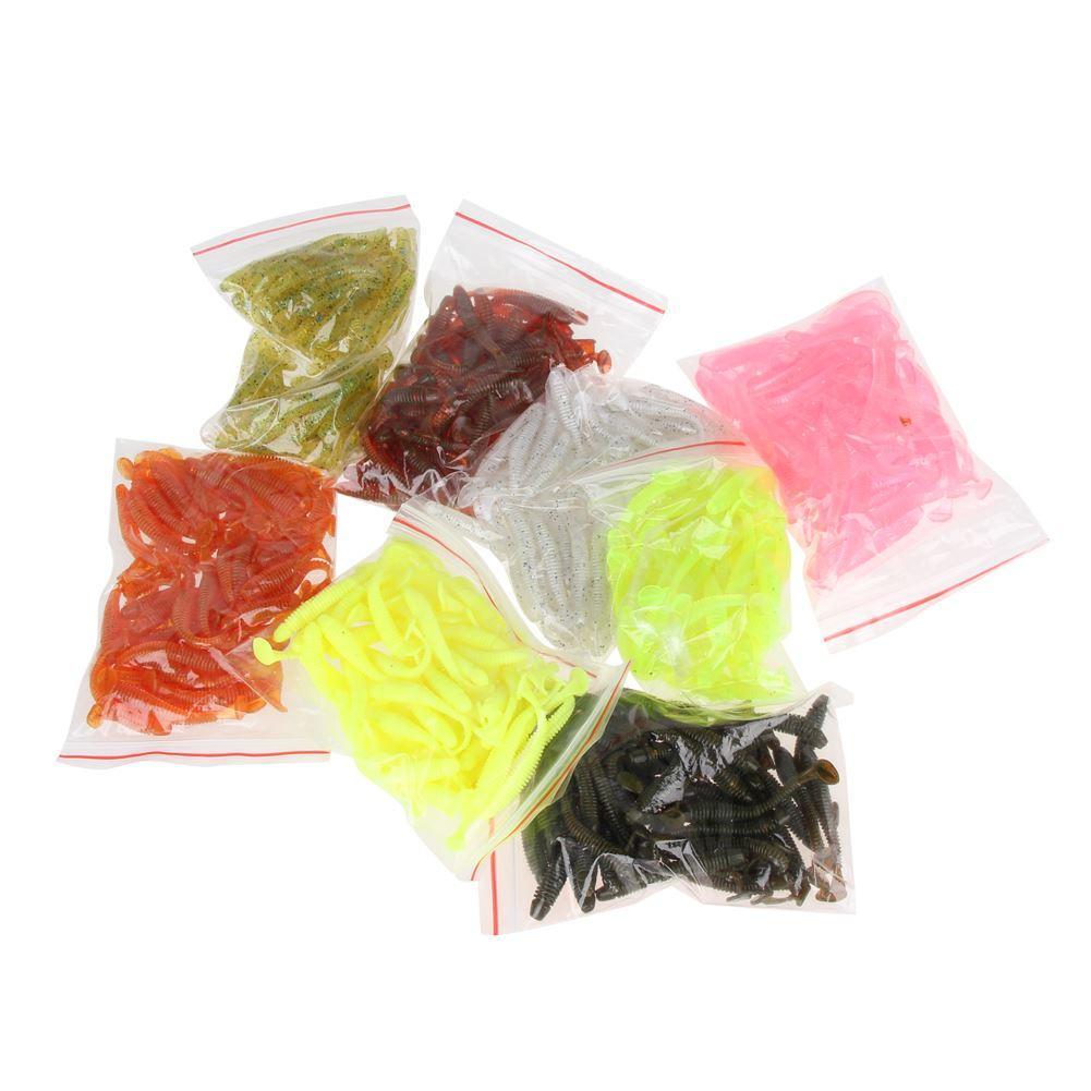 50 قطع 50 ملليمتر / 2 جرام لينة السحر الاصطناعي لوش الصيد الطعم swimbait دودة معالجة الصيد إغراء كيت (لون عشوائي)