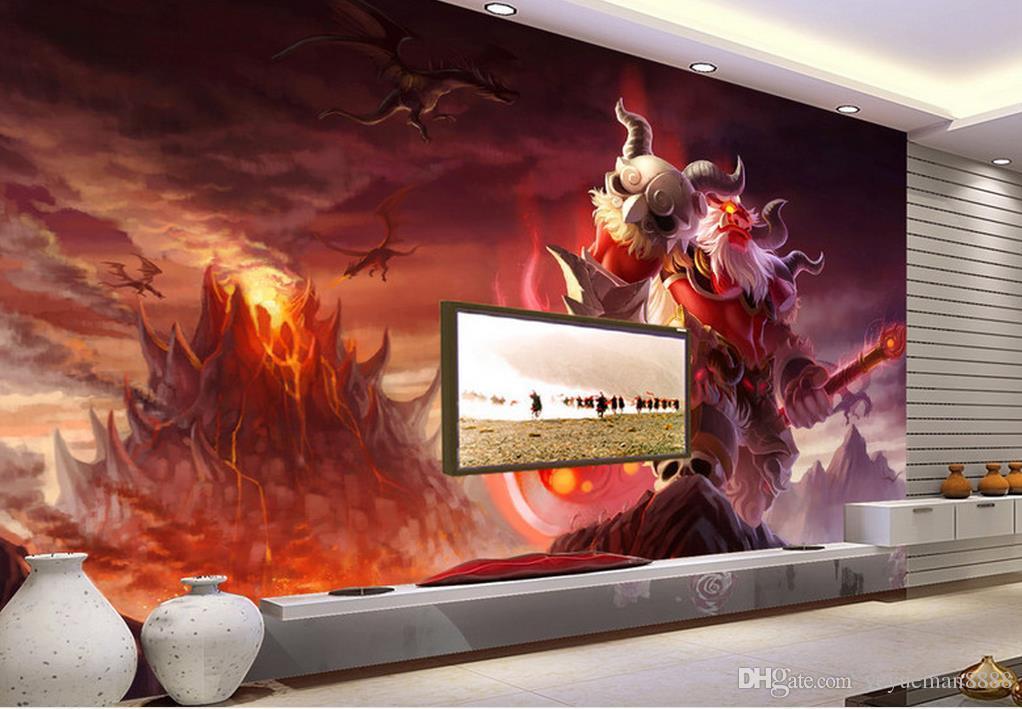 جدار خلفية خلفية الماس مخصص 3d جدارية خلفية مقاهي الانترنت لعبة مدينة الوحش رسمت باليد خلفية خلفية الجدار