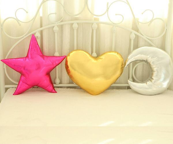 Instagram Bebek 45 * 35 cm Aşk Kalp Atmak Yastık 45 * 45 cm Altın Yıldız Yastık Yastıkları Dekoratif Yastıklar Çocuk Odası için Doldurulmuş Oyuncaklar Kreş Dekor