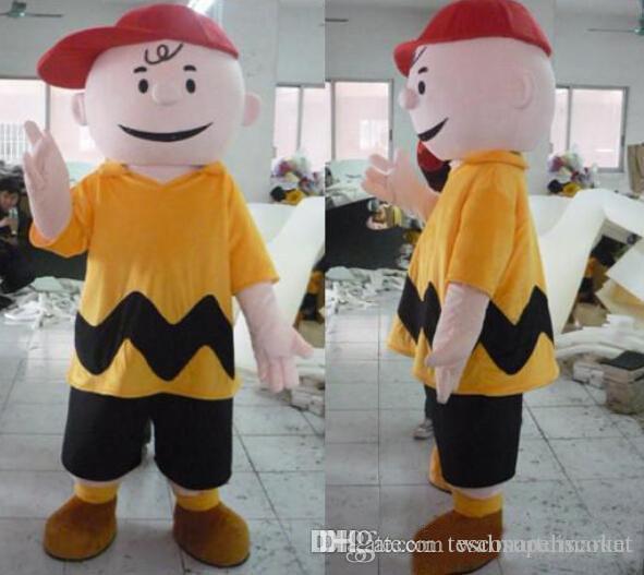 Venda Direta do fabricante de alta qualidade Fancy Dress Charlie Brown MASCOTE Adulto Carnaval Mascotte Cosply Kits de Vestido Terno Direto Da Fábrica