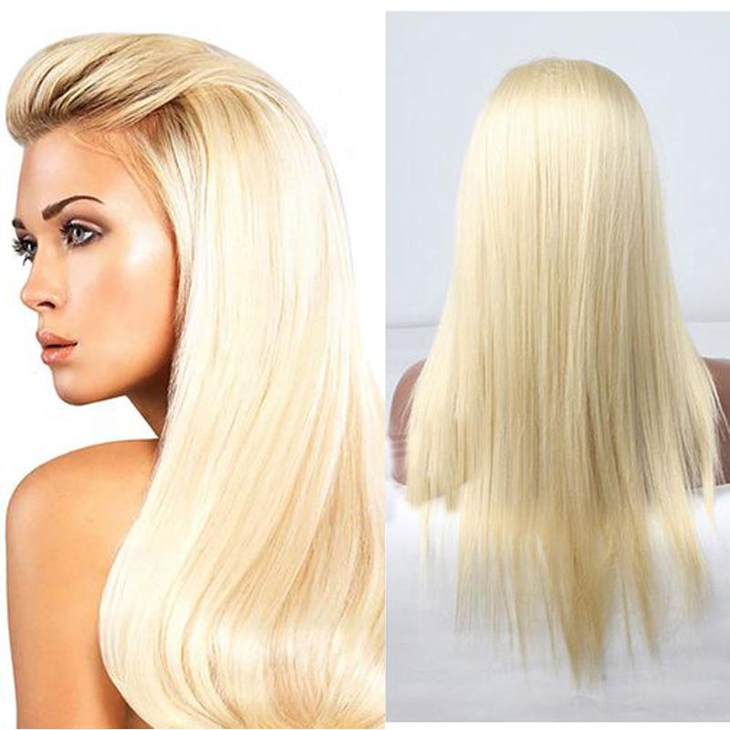 Perruques de cheveux blonds blonds de la dentelle Perruques de cheveux blonds brésiliens pleine dentelle blonde n ° 613 Blonde Human Hair Dentelle Perruque avant
