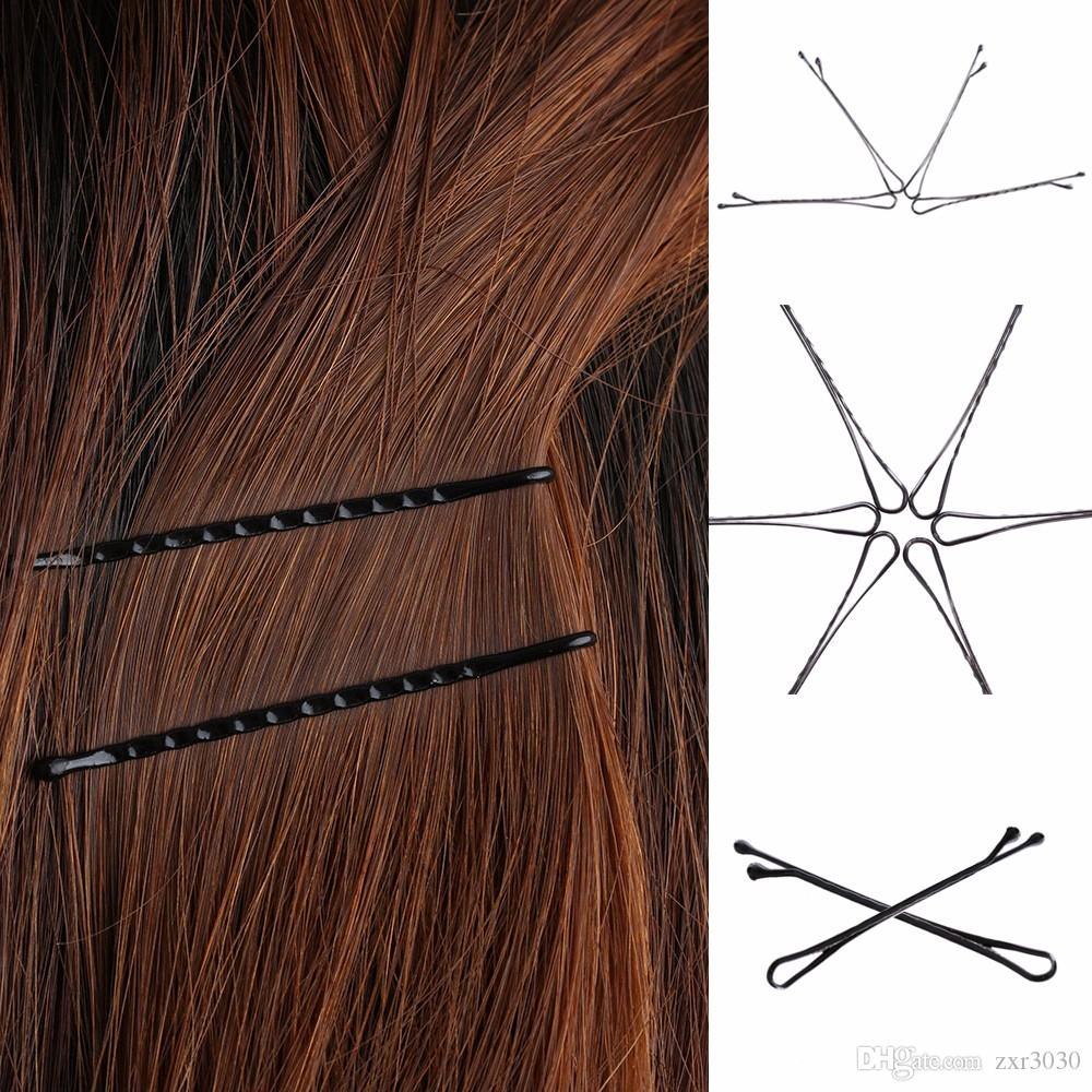 60pcs / set grampos de cabelo Bobby pinos de cabelo Invisible Curly Wavy Grips Salon Barrette Grampos vendas e ofertas quentes