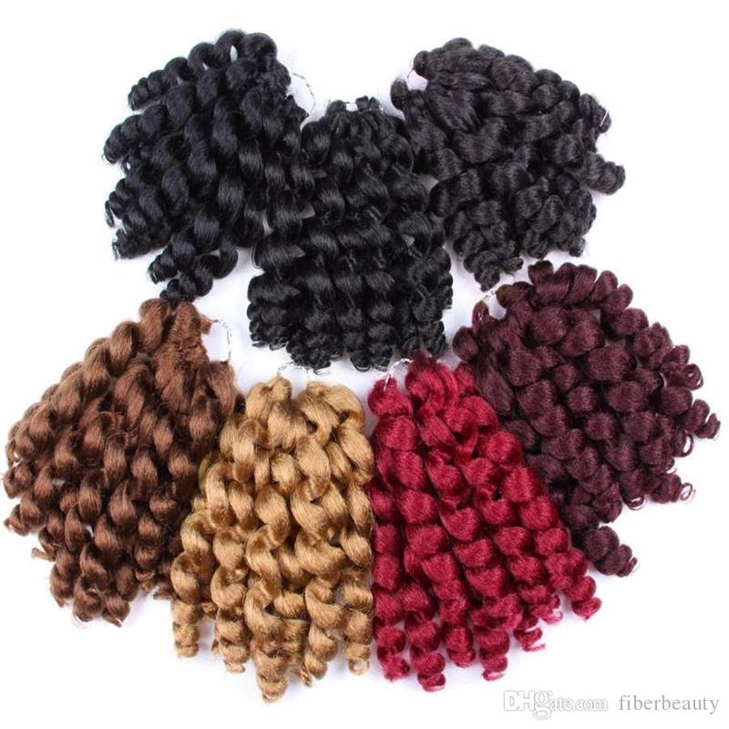 3Pcs/lot AliLeader Wand Curl Crochet Hair Short Thick Twist Black/Red/Blonde/Brown Crochet Braid Kanekalon Synthetic Braiding Hair