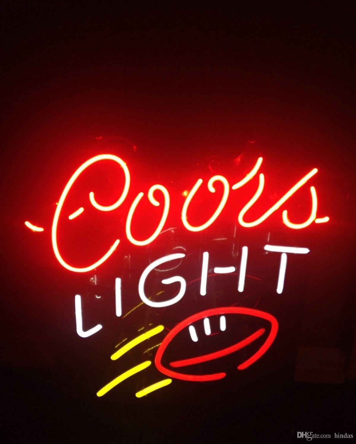 Iscriviti Nuovo Coors Light di calcio della barra della birra della luce al neon 24x20 001