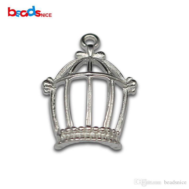 Beadsnice Pure 925 Sterling Silver Crown Charm Cut Out Crown Pendant Open Crown Charms for DIY Necklace Making ID36307