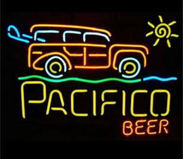 "Pacifico Surf Woody Beer Neon Sign Customized Handmade Real Glass Tube Store Beer Bar KTV Club Pub Advertising Display Neon Signs 24""X24"""