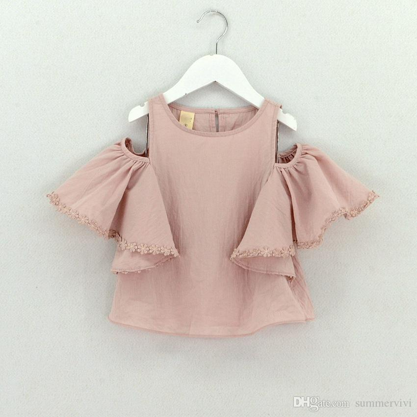 Girls  Cotton Pink Graphic Summer Quality T shirts Tops 140