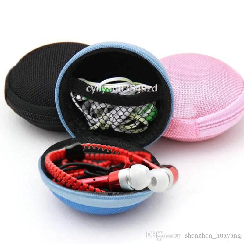 50 sztuk / partia Stereo Metal Słuchawki Słuchawki Słuchawki Słuchawki w Earbouds z torbą do przechowywania w przypadku uniwersalnego smartfona