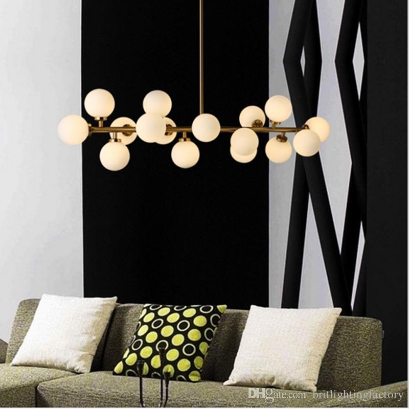 lampada a sospensione a forma di palla di vetro a bolle lampada a sospensione a forma di fagiolo magico lampada ristorante lampada a sospensione Nordic abbigliamento decorazione Soggiorno camera da letto lampada da ufficio