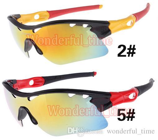 Erkekler spor gözlükler moda göz kamaştırıcı renk yarım çerçeve güneş gözlüğü kadın gözlük Spor Açık sürme Güneş Gözlükleri 10 renkler ücretsiz kargo