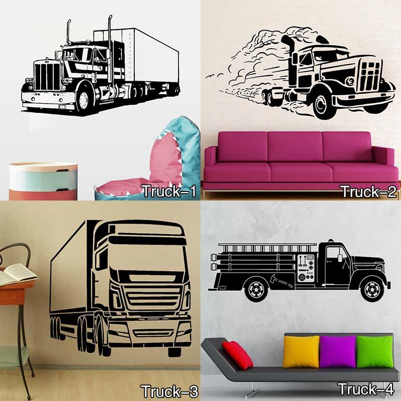 Monster Truck Personalised Any Name Kids Bedroom Wall Sticker Children Vinyl Decal decor sticker Free Shipping