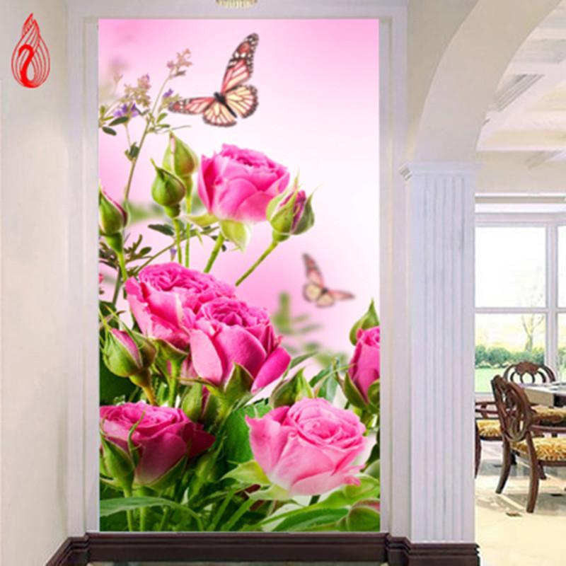 Promoção DIY 5D Diamante Bordado Bela Rosa Rodada Pintura Diamante Cross Stitch Kits Mosaico Pintura Decoração de Casa