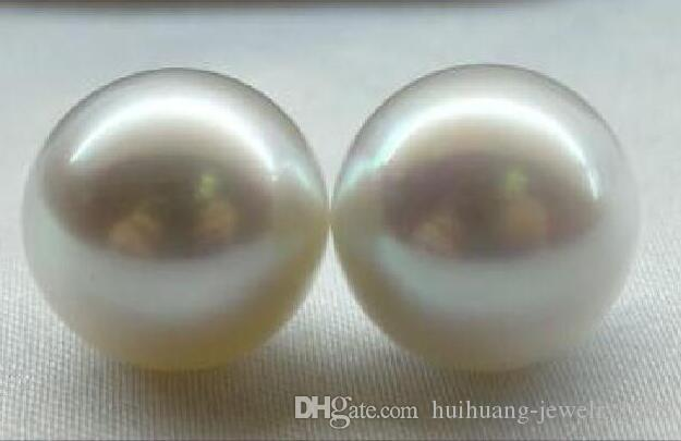 PAAR SEHR GROSSE PERFECT ROUND SÜDSEE 13MM WEISS LOOSE PEARL UNDRILLEDPAIR riesiger PERFECT ROUND SÜDSEE 13MM WHITE LOOSE PEARL ungebohrter