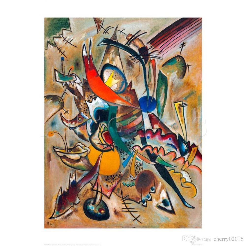 Astratta arte moderna Dipinto con punti - Wassily Kandinsky dipinti ad olio Quadro dipinto a mano