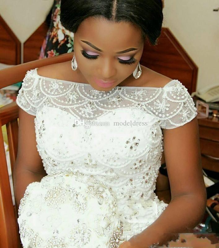 New Design Arabic Nigerian Wedding Dresses 2019 Off Shoulder Beaded Ruffles  Luxury Bridal Gowns Vestidos De Noiva Plus Size Custom Made Cheap Wedding  Dress Cheap Wedding Dresses Online From Modeldress, $185.99| DHgate.Com