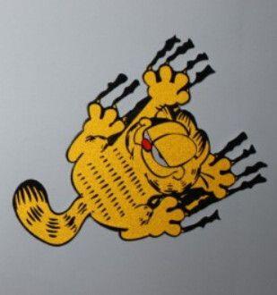 Compre Etiqueta Do Carro Engracado O Desenho Animado Garfield Os