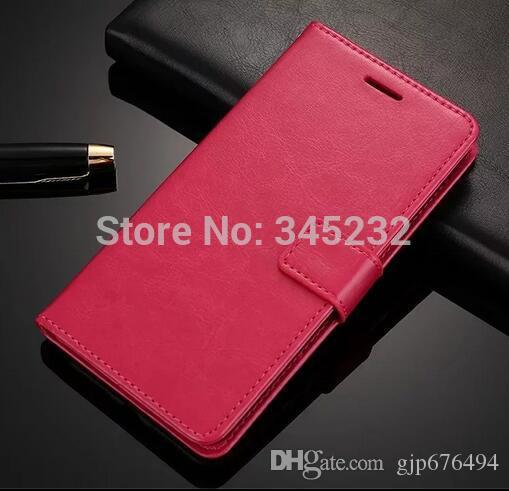 100pcs/lot free shipping Book Style Crazy Horse Lines Leather Wallet Case For iphone 4s/5s/6G/6G PLUS/7/7 PLUS