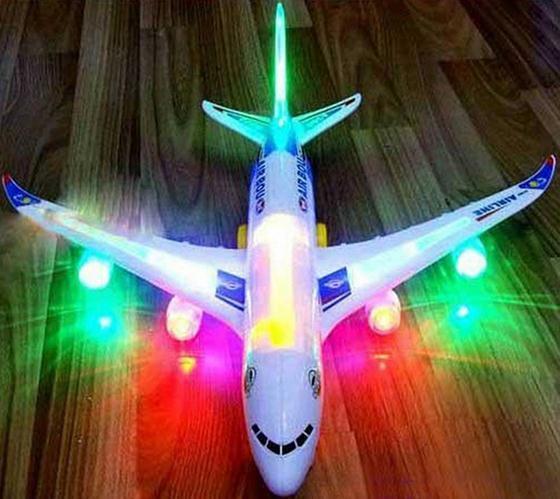 Moda Kids Electric Airplane Giocattoli per bambini Giocattoli musicali Moving Luci lampeggianti Suoni Toy NEW (Dimensioni: 1)