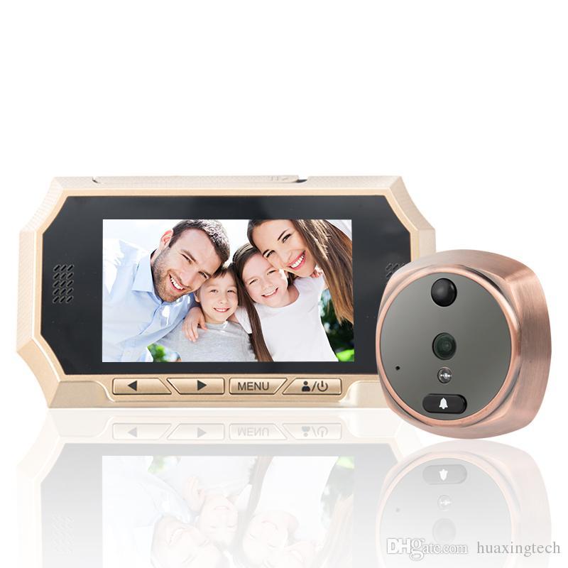 4.3 Digital Peephole Viewer 160 ° Weitwinkelkamera Türklingel PIR Bewegungserkennung