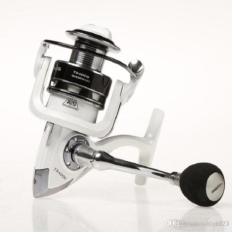 Wholesaleフィッシングリール10 + 1bb TRシリーズアルミ合金スプール高強度エンジニアリングナイロンスピニング鯉釣りリール送料無料
