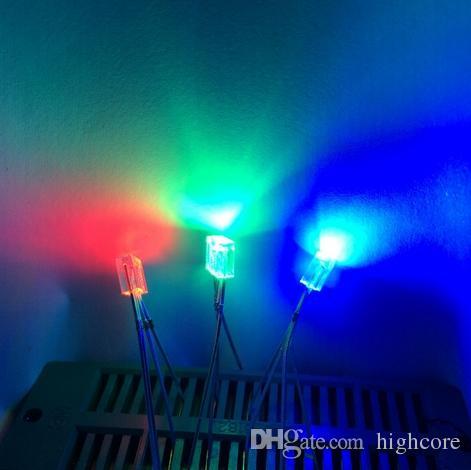 MISTURA Através Do Furo Retangular 255 2 * 5 * 5mm LED RGB Diodo Comum ânodo / cátodo disponível