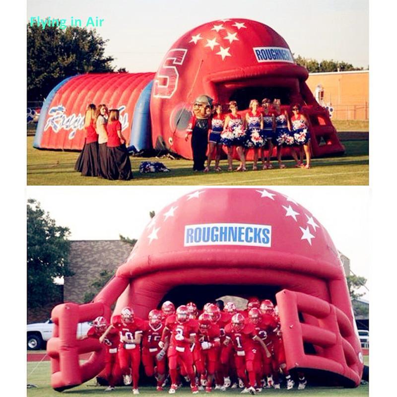 Túnel inflável do capacete inflável de Rattler gigante para a entrada dos atletas do esporte