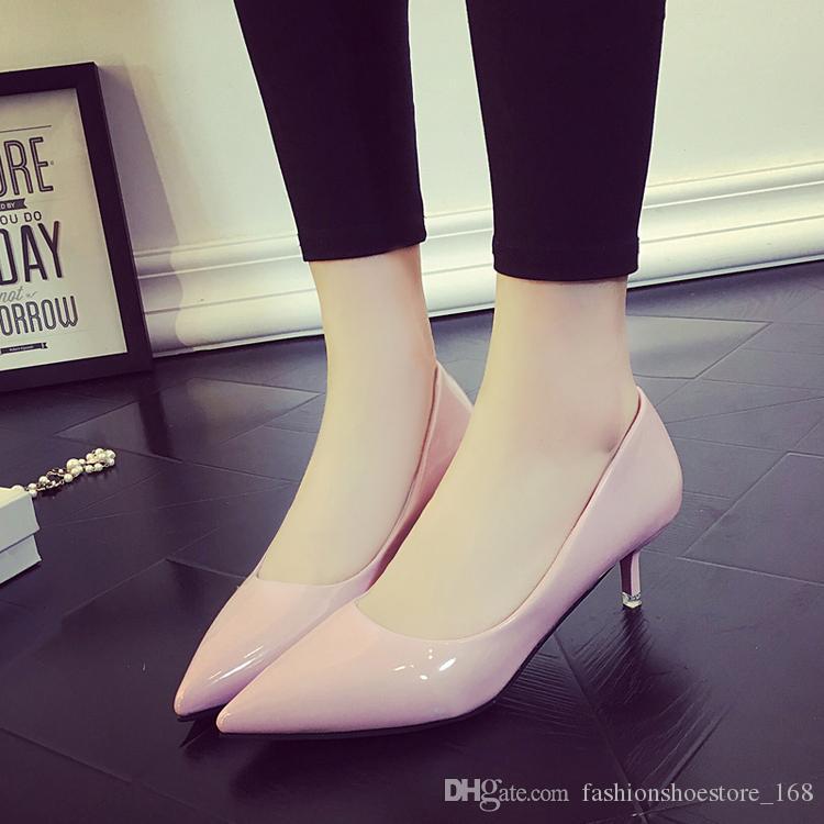 Marka Ayakkabı Kadın Yüksek Topuklu Kadın Düğün Ayakkabı Pompaları kırmızı Siyah Çıplak Topuklar Bayanlar ayakkabı Pompalar