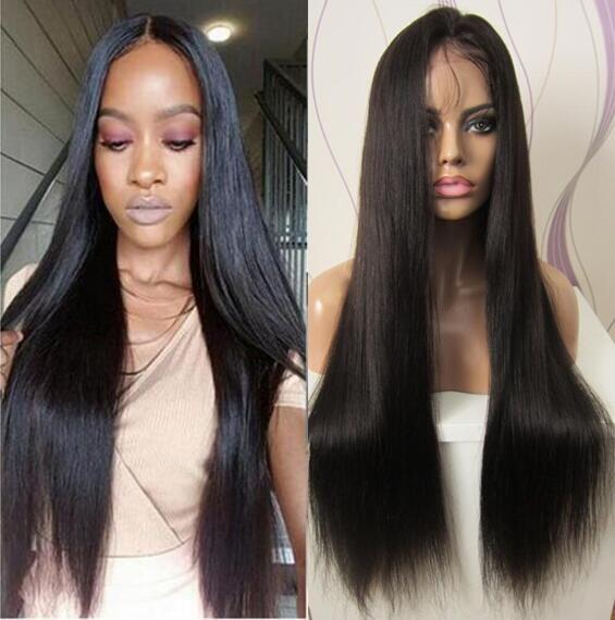 8а класс естественный цвет девственные бразильские волосы шелковистые прямые детские волосы полный кружева парик кружева фронт парик Бесплатная доставка
