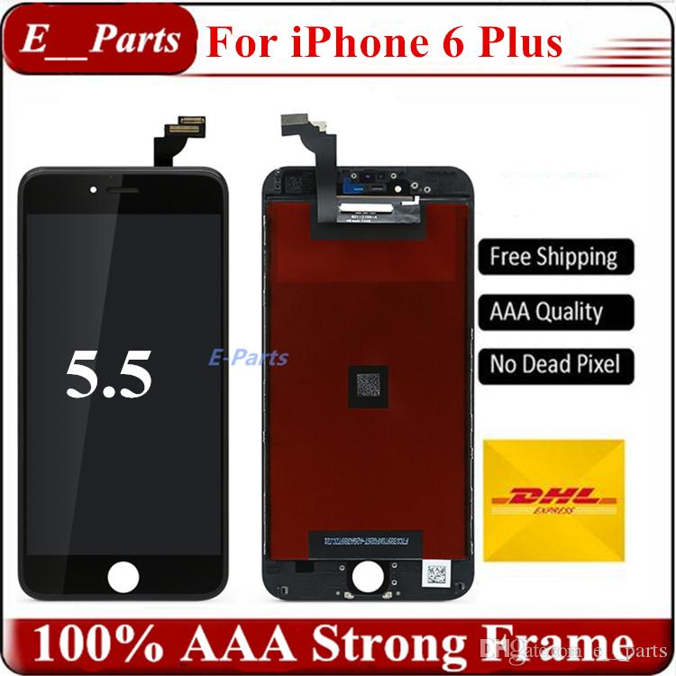 For iPhone 6 Plus LCD (5.5 inch) LCD Display Touch Digitizer Complete Screen with Frame Full Assembly Replacement