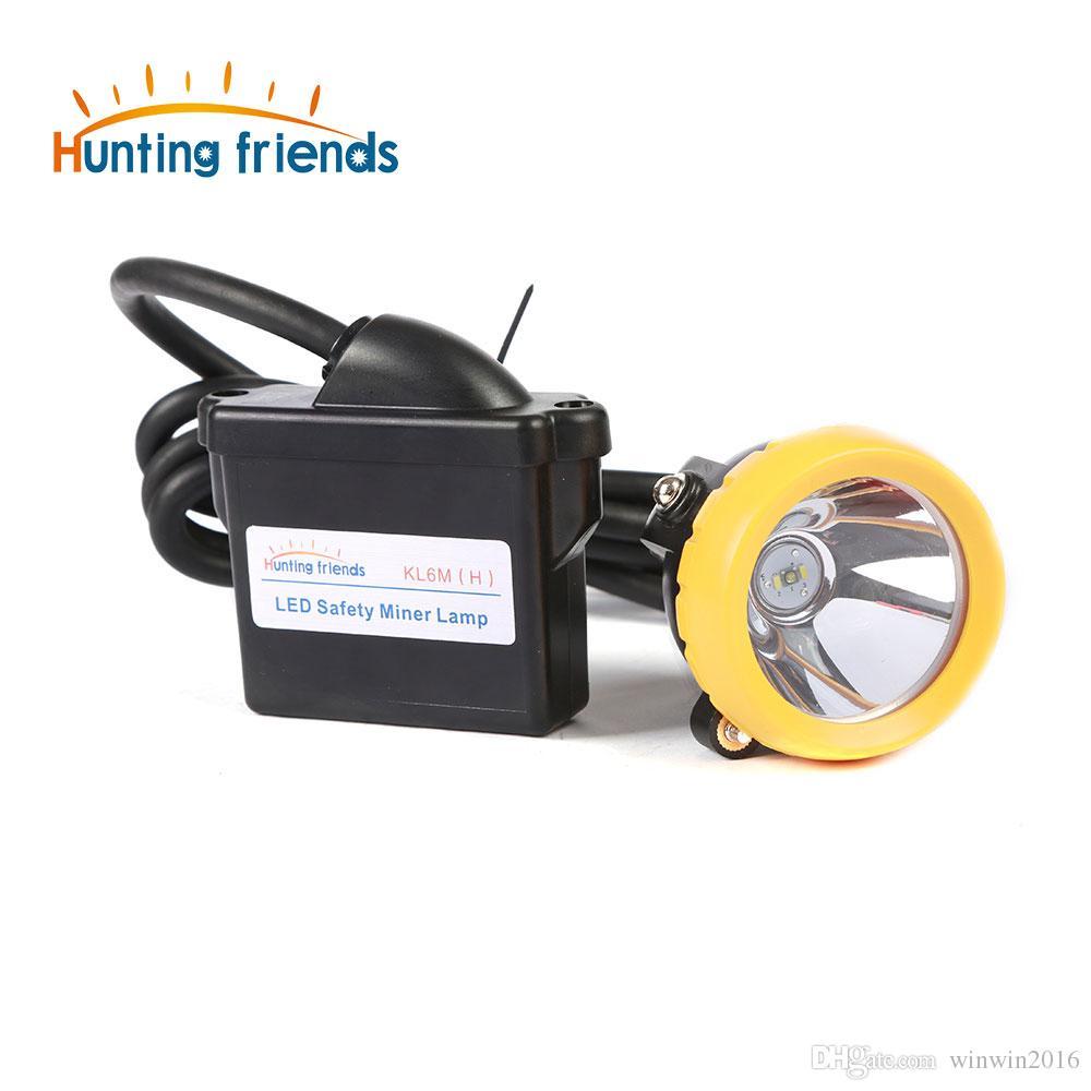 Neue Ankunft 1 + 2 LED Sicherheit Bergmannlampe KL6M (H) 18650 Batterie Scheinwerfer Wasserdichte Scheinwerfer Explosionsgeschützte Bergmannkappe Lampe
