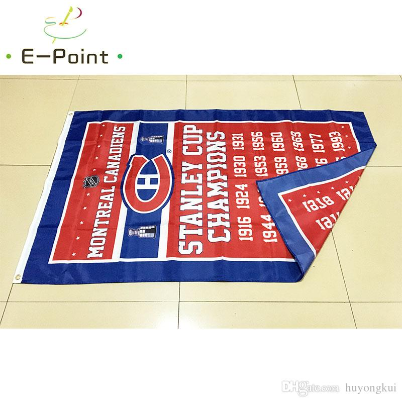 Canadiens de Montréal 3 5 piedi * (90cm * 150cm) poliestere bandiera americana Banner decorazione volare giardino di casa