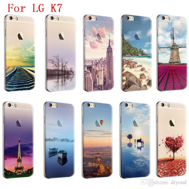 5b37f690255 Forros Para Celular Scenery Series Phone Case Para LG K7 X210 X210DS MS330 LG  Tribute 5 LS675 Alta Calidad TPU Pintado Silicona Suave Piel Cubierta ...