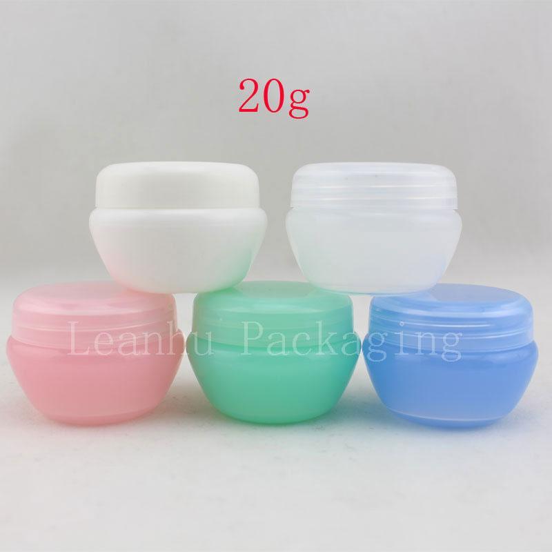 20G couleur vide forme de champignon crème cosmétique pot récipient en plastique de soins de la peau crème de la peau, fabricant de bidon de conteneur compact de voyage