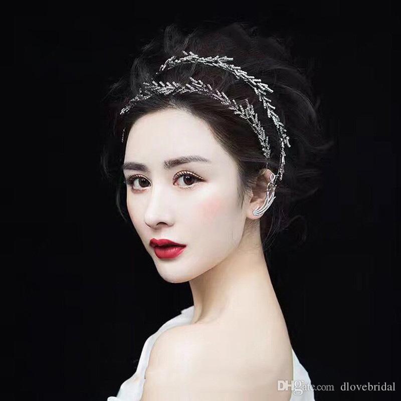 New Arrival Elegant Baroque Rhinestone Tiara Crown Wedding Party Prom Homecoming Crowns Princess Bridal Tiaras Hair Accessory Free Shipping