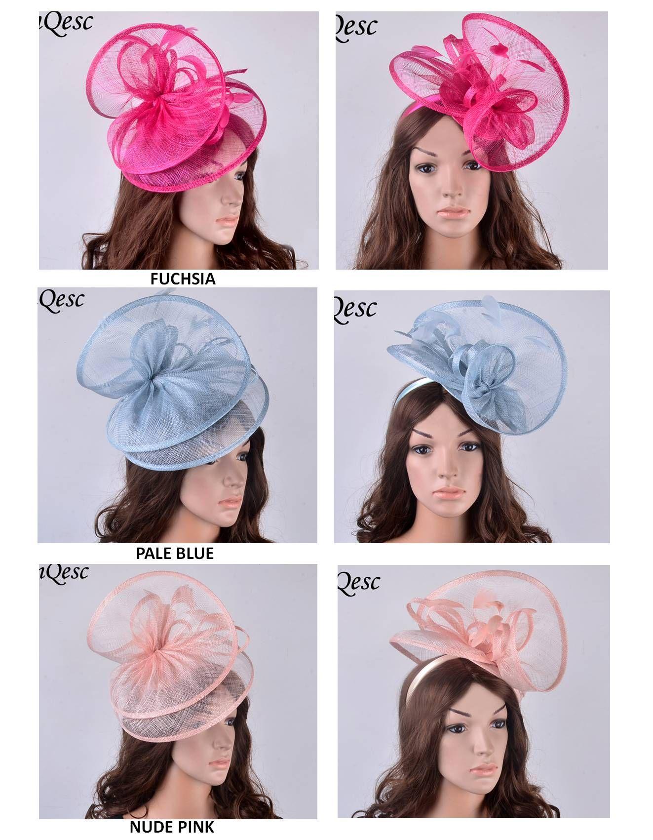 Nowy projekt dwóch boków Duży kapelusz fascynatora Sinamay z pętli Sinamay i piór do Kentucky Derby, ślub, kościół, wyścigi, impreza