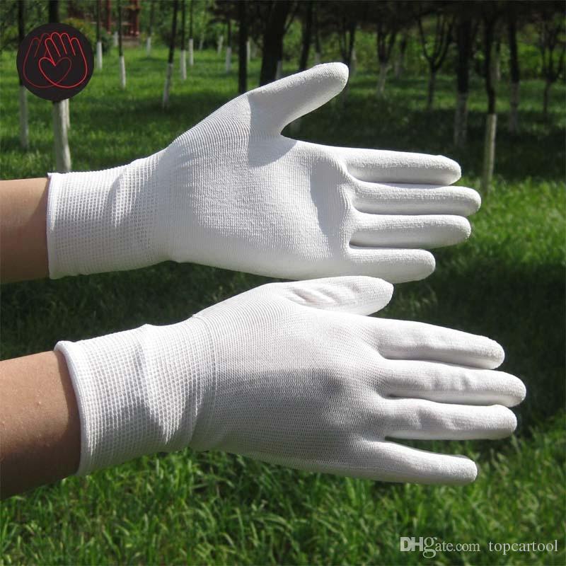 Schwarze PU-Arbeitshandschuhe Palm Beschichtete Arbeitshandschuhe, Arbeitsplatz-Sicherheitsartikel, Sicherheitshandschuhe guantes trabajo 24pcs = 12pair