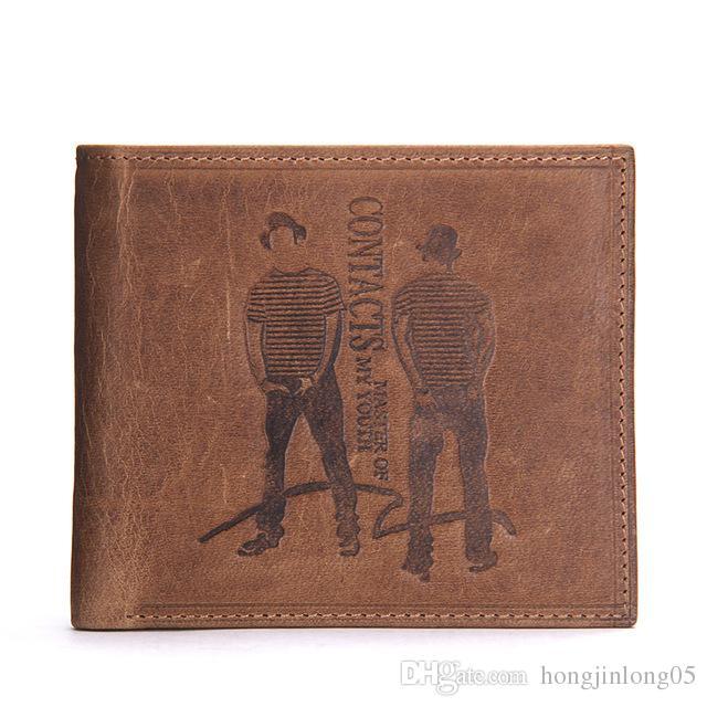 브랜드 디자인 남자 지갑 패션 유명 상표 지갑 가죽 지갑 짧은 지갑 남성 얇은 새로운 고품질 M2008